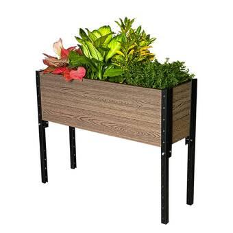 Foundry Select Hulbert Wood Elevated Planter Wayfair
