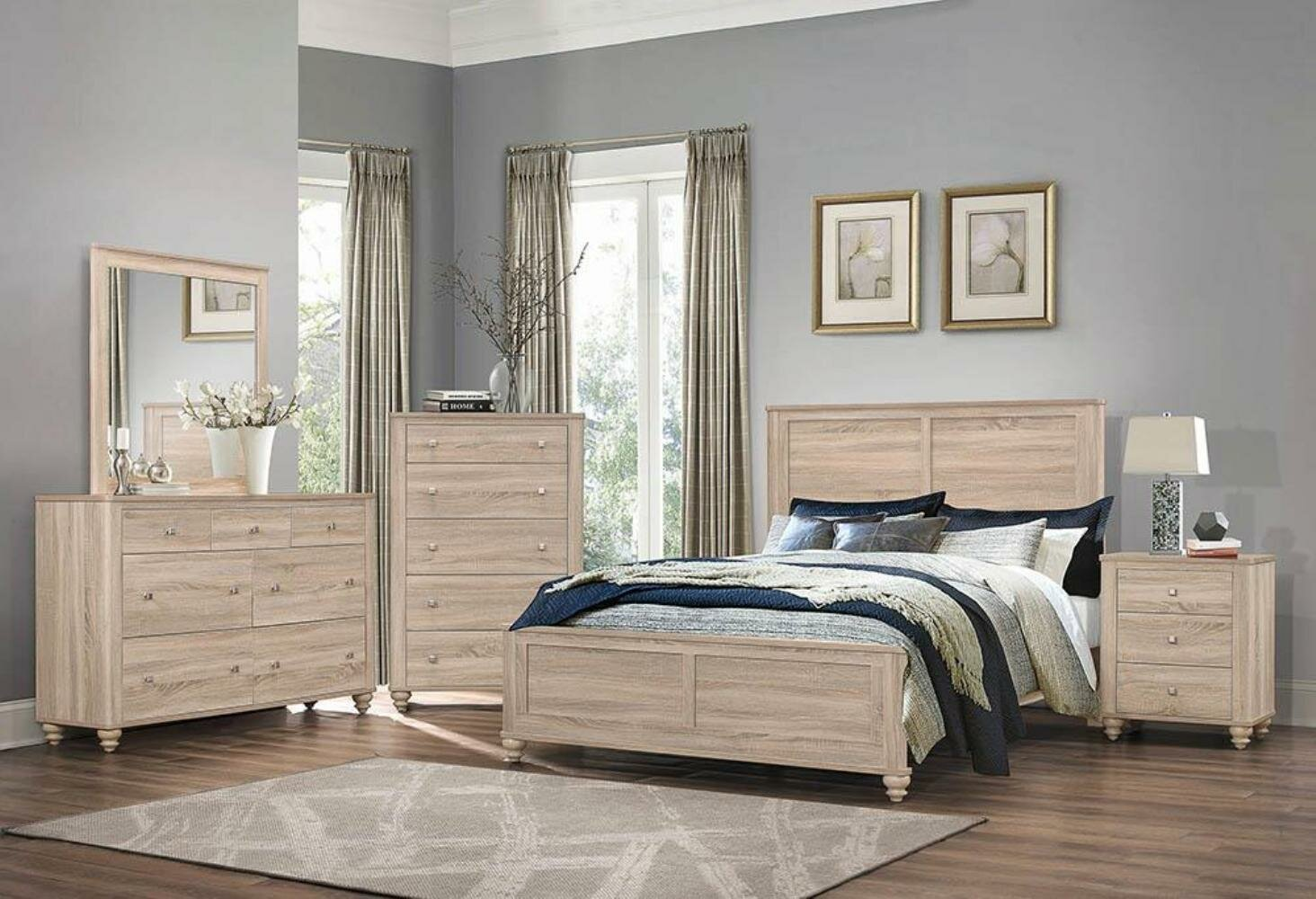 Jude Standard Solid Wood Configurable Bedroom Set