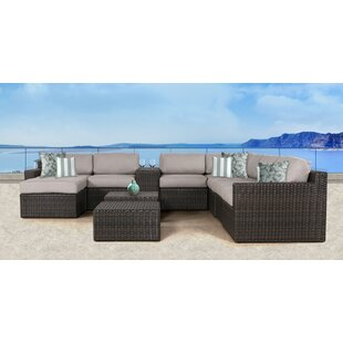Rosecliff Heights Sabin 11 Piece Sectional Set with Cushions