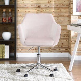 Pink Velvet Office Chairs