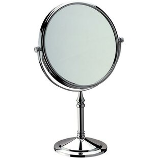 Reviews Houtz Double-Sided Adjustable Makeup/Shaving Mirror By Charlton Home