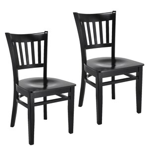 Slatback Solid Wood Dining Chair (Set of 2) by Benkel Seating