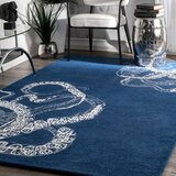 Shewmaker Hand-Tufted Blue Area Rug