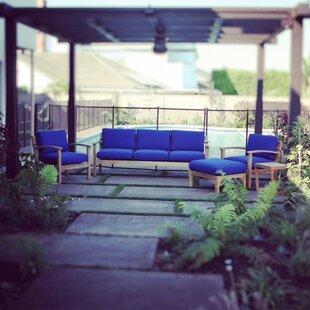 Trijaya Living Waterford 6 Piece Teak Sunbrella Sofa Set with Cushions
