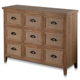 Bechtel 9 Drawer Apothecary Accent chest by Longshore Tides