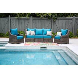 Valentin 5 Piece Sunbrella Sectional Set with Cushions ByLaurel Foundry Modern Farmhouse