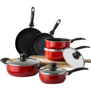 Wayfair Basics 10 Piece Nonstick Aluminum Cookware Set