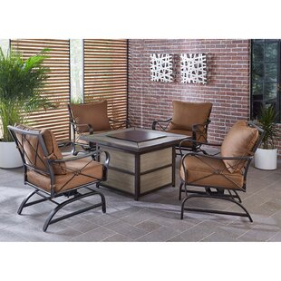 Robertsdale Outdoor 5 Piece Multiple Chairs Seating Group with Cushions
