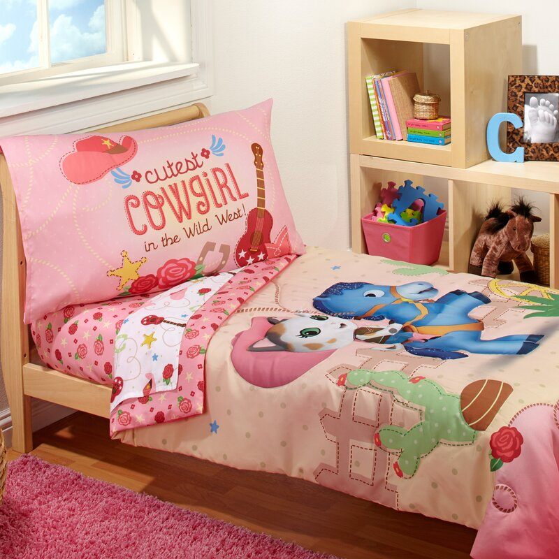 Sheriff Callie   Cutest Cowgirl 4 Piece Toddler Bedding Set