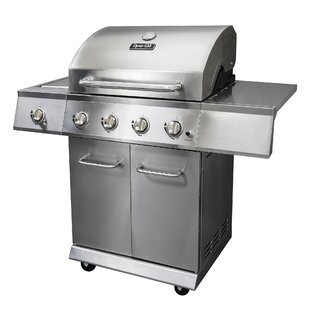 4-Burner Propane Gas Grill With Side Burner By Dyna-Glo