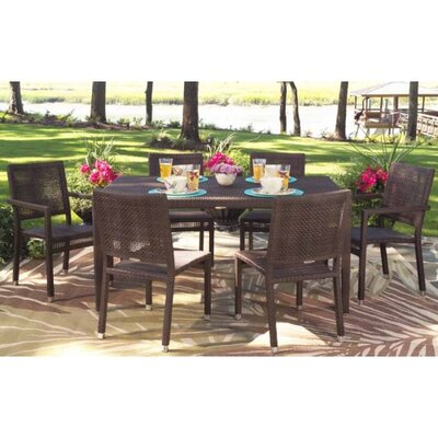 All-Weather 7 Piece Dining Set by Whitecraft Cool