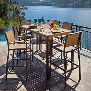 POLYWOOD® Bayline™ 7 Piece Bar Height Dining Set