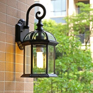 Best Cheap Outdoor Wall Light 2021 Upgrade Your Home With Charlton Home Charlton Home Asha 1 Bulb 10 5 H Integrated Led Outdoor Wall Lantern With Dusk To Dawn