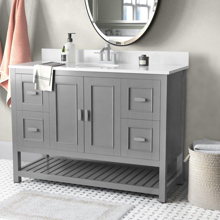 Wade Logan Hasler 48 Single Bathroom Vanity Set Reviews Wayfair