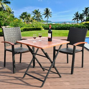 Wilde 3 Piece Dining Set by Bay Isle Home
