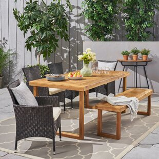 Derlyum Outdoor 6 Piece Dining Set with Cushions