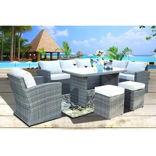 Iowa Park 7 Piece Rattan Sectional Seating Group