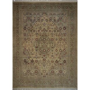 Best Choices Canning Persian Hand-Knotted Wool Brown/Green Area Rug ByFleur De Lis Living
