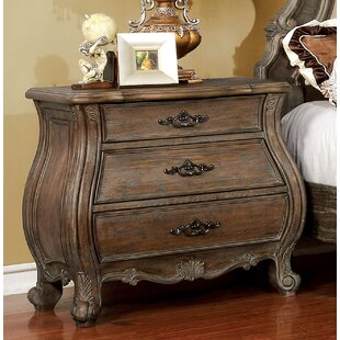 Adorno 3 Drawer Nightstand by One Allium Way