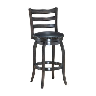 Mackinnon Wooden Swivel Bar Stool Gracie Oaks