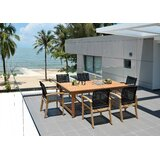 Lootens Outdoor 7 Piece Teak Dining Set