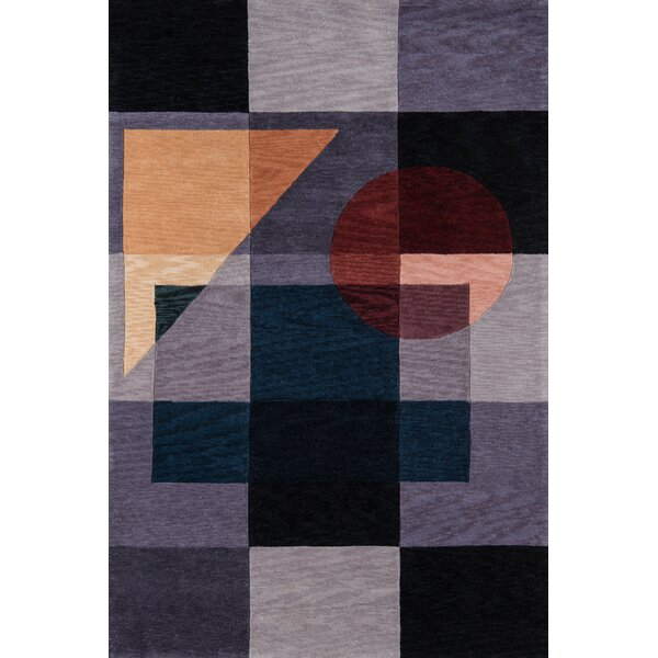 Momeni New Wave Iv Abstract Handmde Tufted Wool Blue Red Yellow Area Rug Perigold