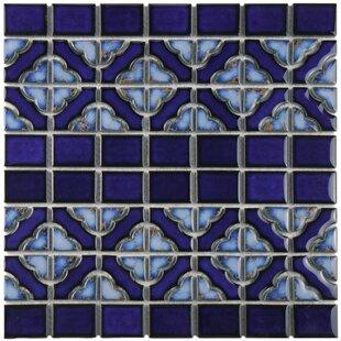 Jericho Random Sized Porcelain Mosaic Tile in Cobalt