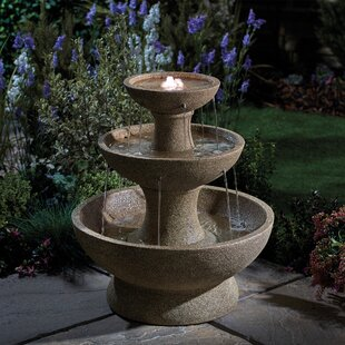 Tocco Polystone Fountain With LED Light By Sol 72 Outdoor