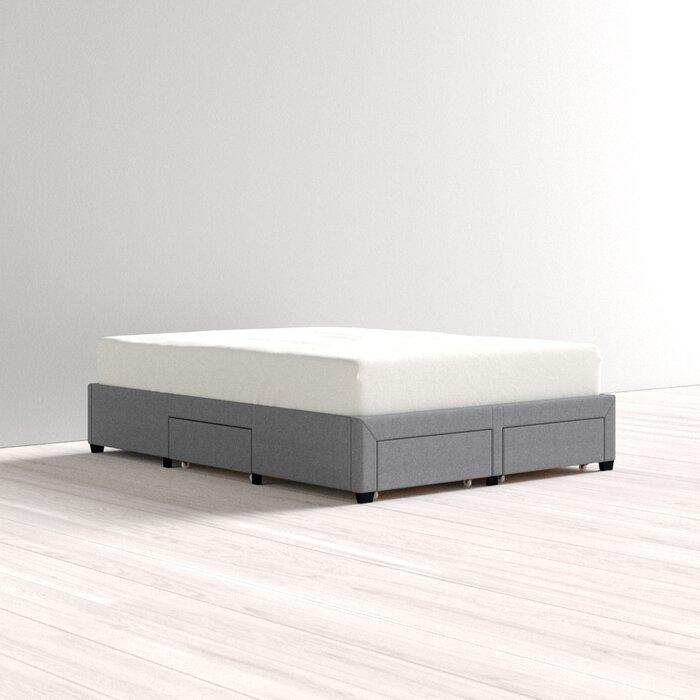 Red Barrel Studio Braham Queen Upholstered Storage Platform Bed (Gray)