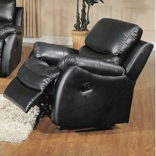 Wildon Home ® Brett Leather Manual Rocker Recliner