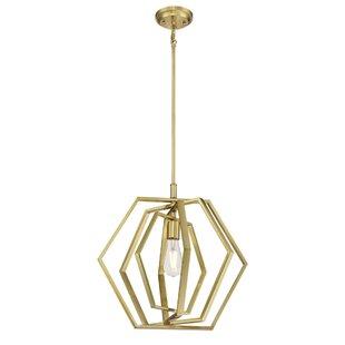 Wrought Studio Ashton 1-Light Geometric Pendant