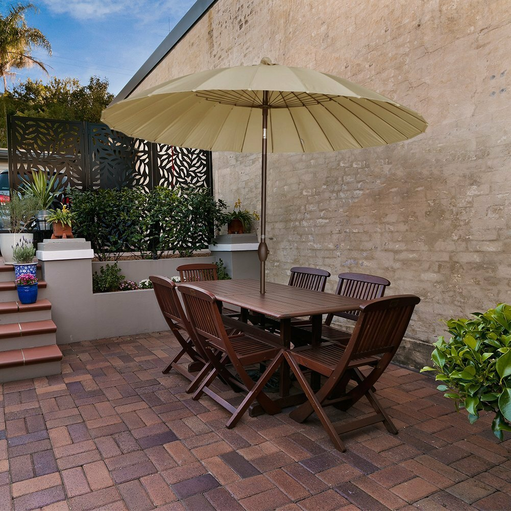 the a view buy patio all shutterstock handyman patios umbrellas roomy umbrella to use for level table how family