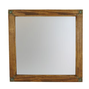 Bloomsbury Market Flores Square Concho Cross Vanity Wall Mirror