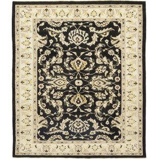 Check Prices One-of-a-Kind Devan Hand-Knotted Wool Black/Beige Indoor Area Rug By Isabelline
