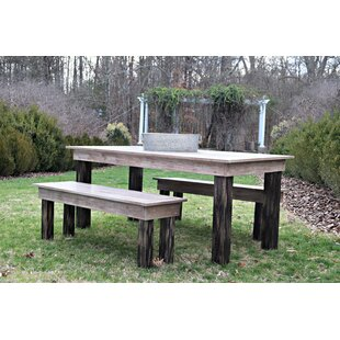 Zapate 3 Piece Solid Wood Breakfast nook Dining Set