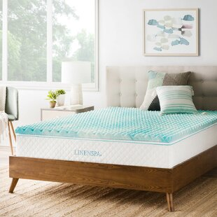 Check Prices Convoluted Swirl 2 Gel Memory Foam Mattress Topper By Linenspa