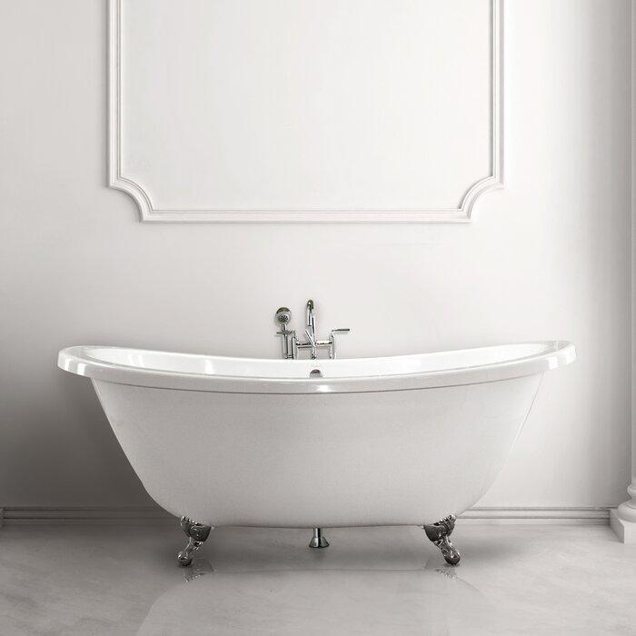 . Andrea 7238 SS 72  Soaking Bathtub