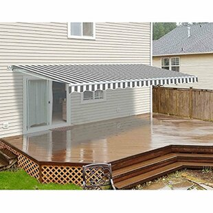 Motorized 13ft. W x 10ft. D Retractable Patio Awning by ALEKO