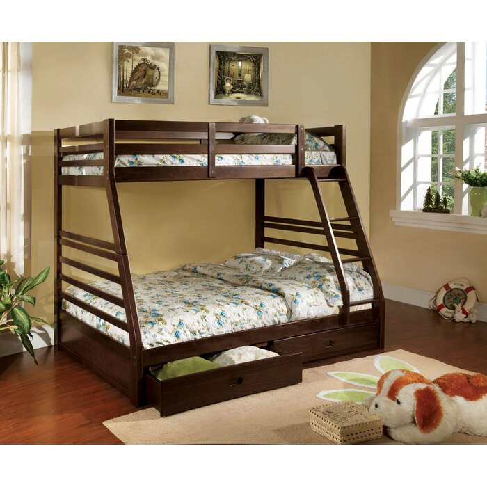 Weatherholt Twin Over Full Bunk Bed with Drawers
