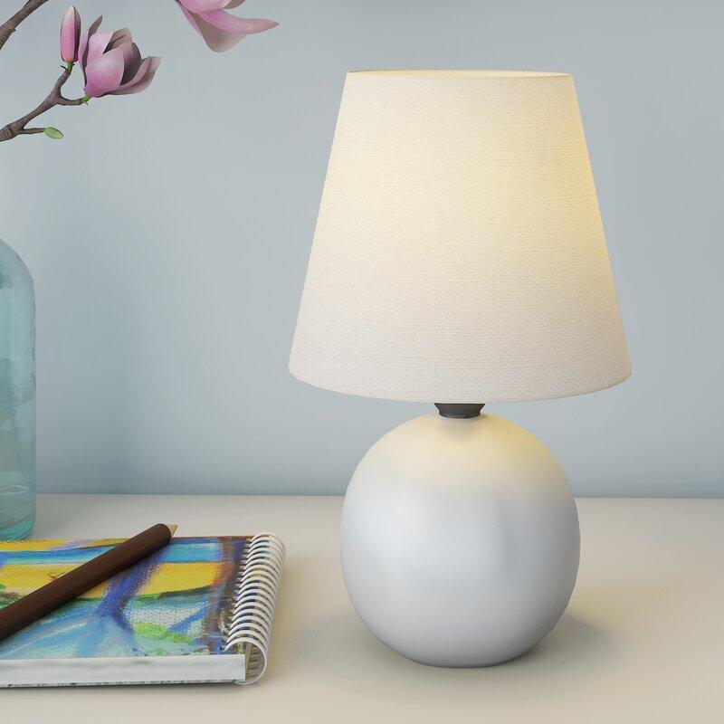 Mack Milo Louis Ceramic Globe Mini Table Lamp Reviews Wayfair