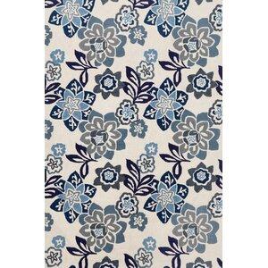 Dazey Blue/White Outdoor Area Rug