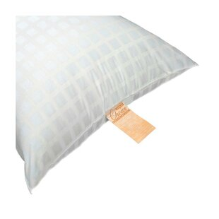 Rufus Window Pane Ticking Silicone Fiber Pillow