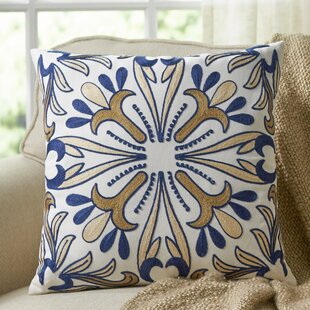 Gill Embroidered Throw Pillow
