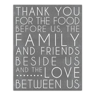 photo about Bless the Food Before Us Printable named Bless This Meals Wall Artwork Wayfair.ca