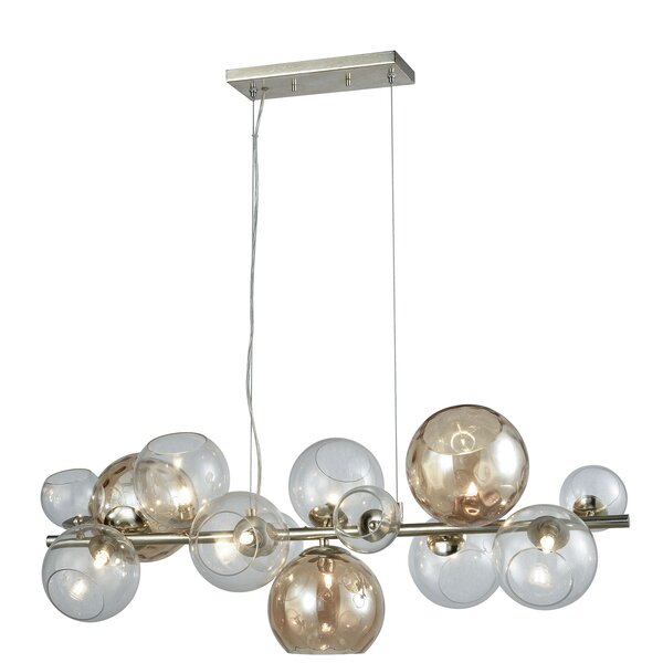Ivy Bronx Sevilla 9 Light Sputnik Modern Linear Chandelier Wayfair