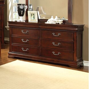 Cherisse 6 Drawer Dresser with Mirror
