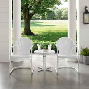 Lovely Metal Outdoor 3 Piece Seating Group Set by Wrought Studio