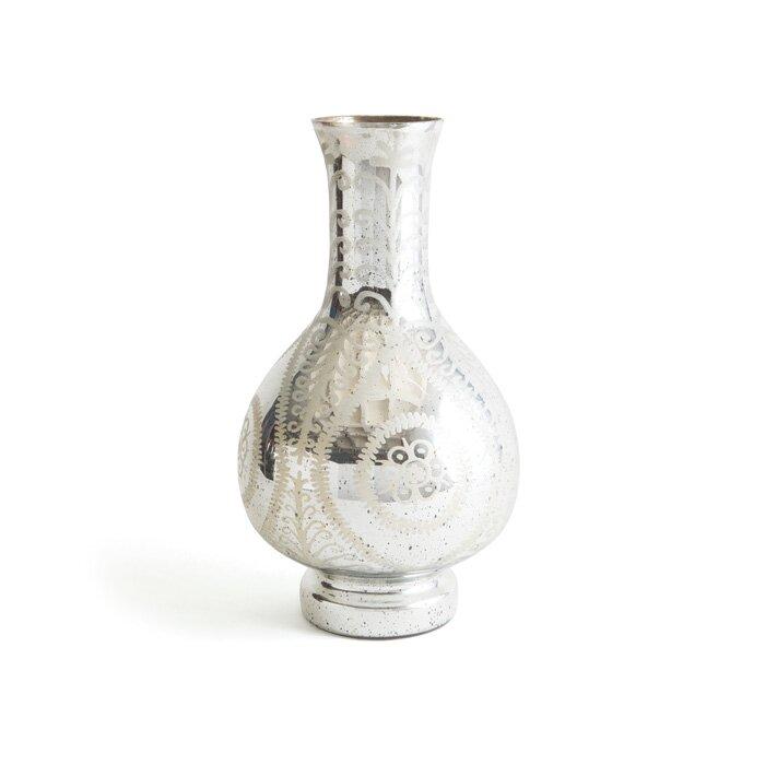 Bungalow Rose Silver Mercury Glass Floor Vase Wayfair