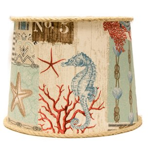 Nautical Patchwork 12 Linen Drum Lamp Shade