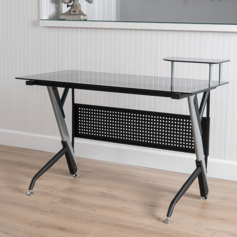 Tempered Glass Writing Desk
